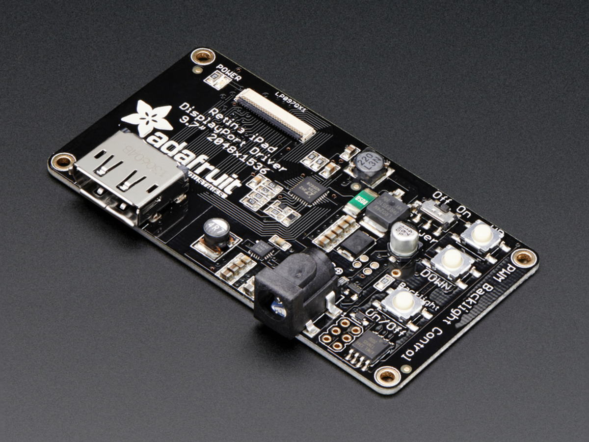 Adafruit Qualia 97 Displayport Monitor 2048x1536 Resolution Id Mechanical Tv Part 2 Led Driver Schematic Bare Board For Lp097qx1 Display