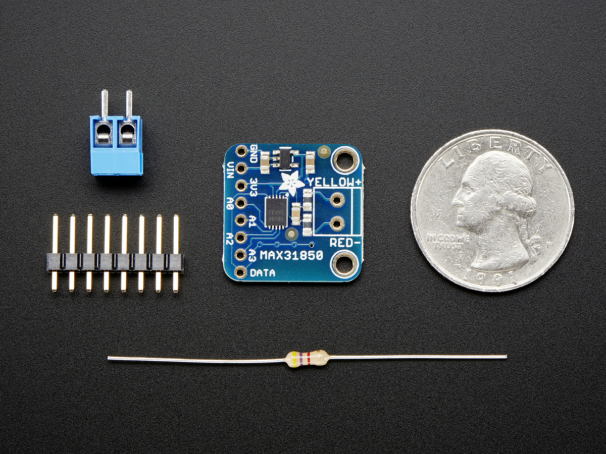Adafruit Pt100 Rtd Temperature Sensor Amplifier Max31865 Id 3328 Open Circuit Detection Wiring Diagram 1 Youtube Thermocouple With Wire Breakout Board Max31850k