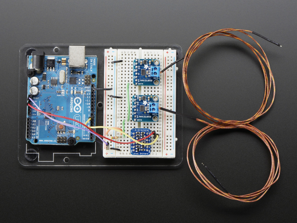 Thermocouple Amplifier With 1 Wire Breakout Board Max31850k Id Arduino Amp Raspberry Pi Camera Interface