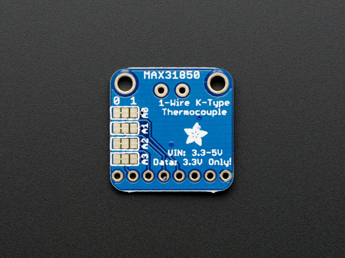 Thermocouple Amplifier with 1-Wire Breakout Board - MAX31850K ID ...