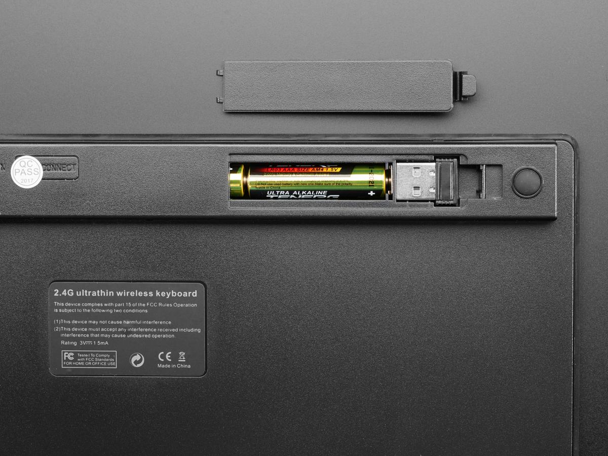 Mini Wireless Keyboard Black W Batteries Id 1737 17