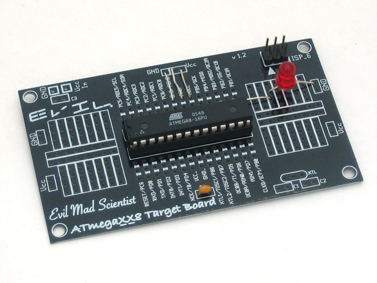 Barebones AVR dev. board ID: 174 - $12.00 : Adafruit Industries ...