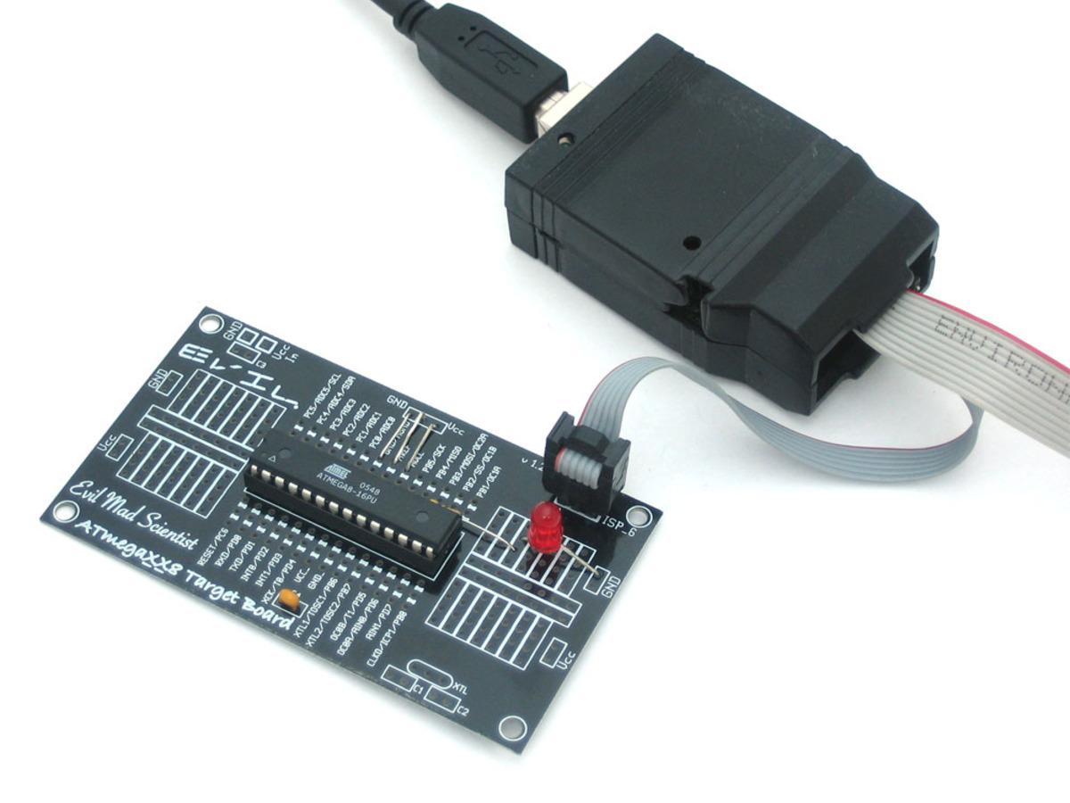 Barebones Avr Dev Board Id 174 1200 Adafruit Industries Circuit Boards For Isp Serial Programmer Printed