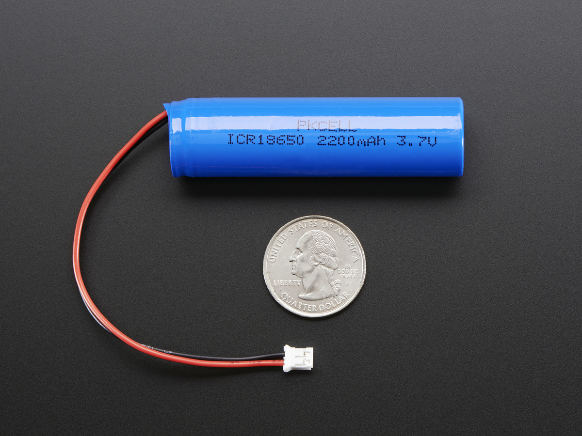 Lithium Ion Cylindrical Battery 37v 2200mah Id 1781 Adafruit Charger Circuit Usb Schematic Nimh