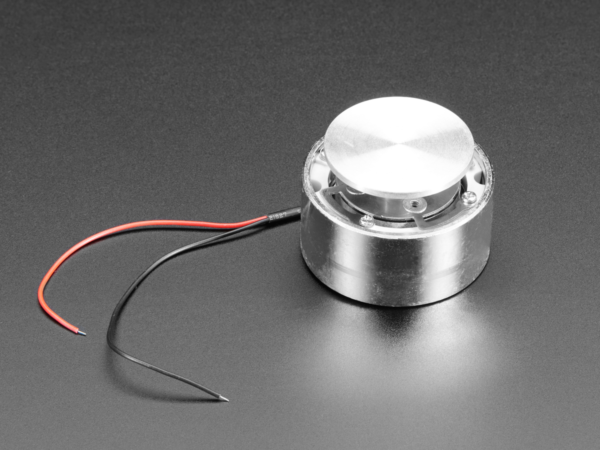 Large Surface Transducer with Wires - 4 Ohm 5 Watt ID: 1784