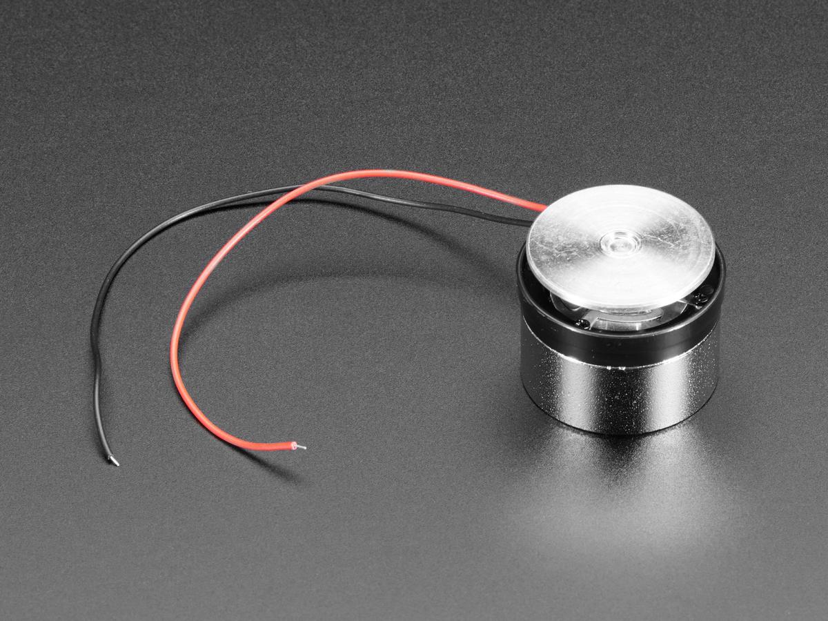 Medium Surface Transducer with Wires - 4 Ohm 3 Watt ID: 1785 ...