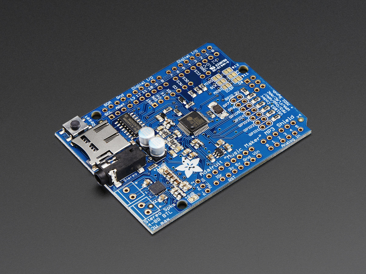 Adafruit Music Maker Mp3 Shield For Arduino W 3w Stereo Amp V10 Adresses Of Integrated Circuits Power Audio Amplifiers Manufacturers Quotmusic Makerquot