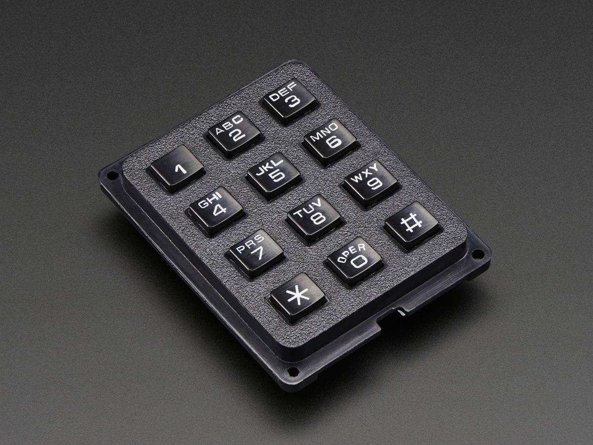 3x4 Phone-style Matrix Keypad ID: 1824 - $7 50 : Adafruit Industries