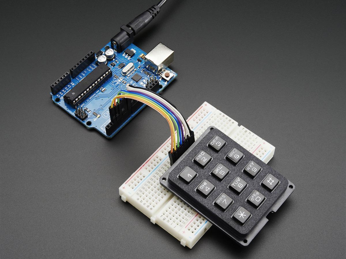 3x4 Phone Style Matrix Keypad Id 1824 7 50 Adafruit