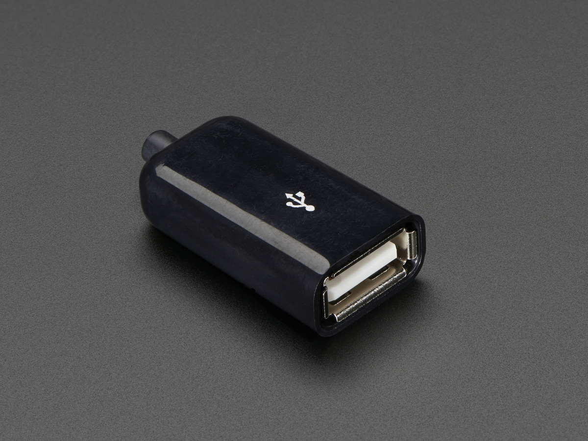 USB DIY Slim Connector Shell - USB Type A Socket/Female