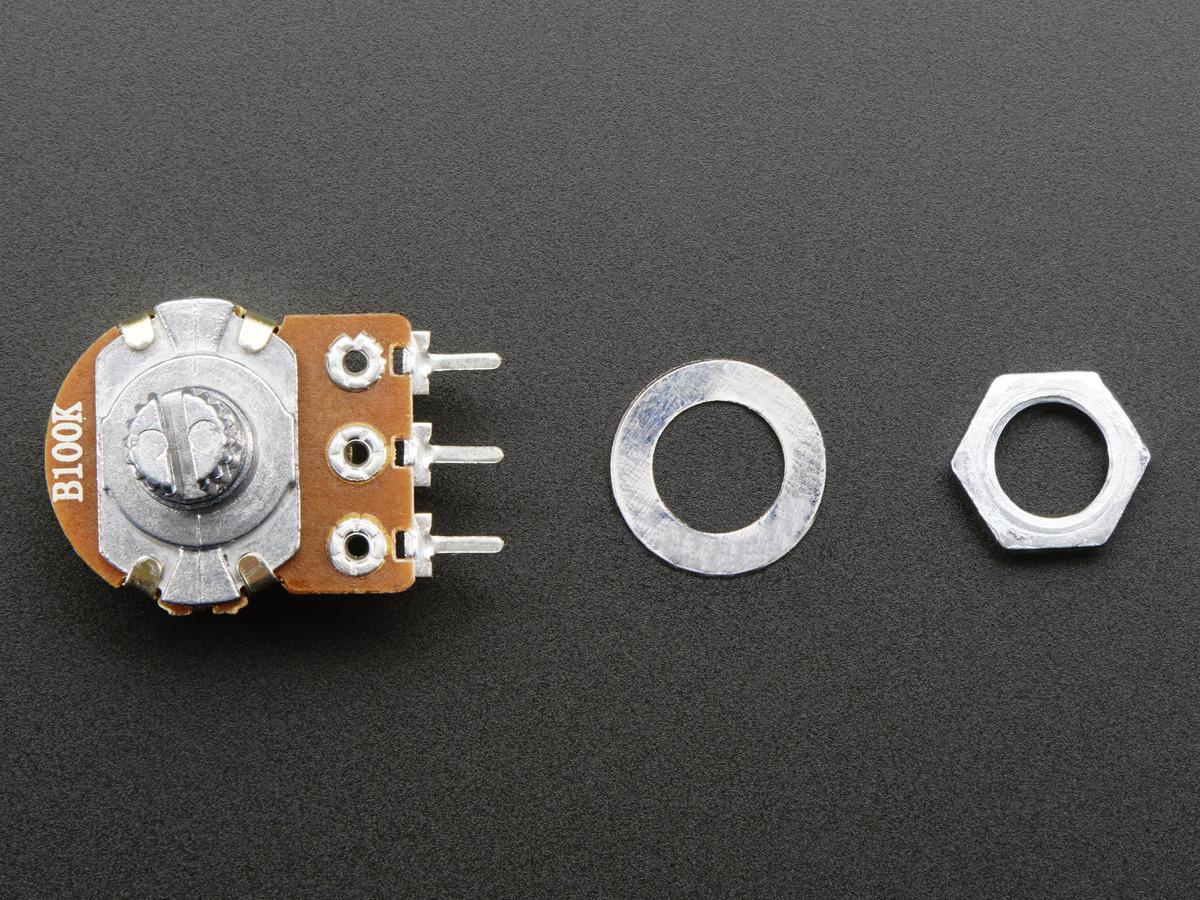Panel Mount 100K potentiometer (Breadboard Friendly) [100KB] ID ...