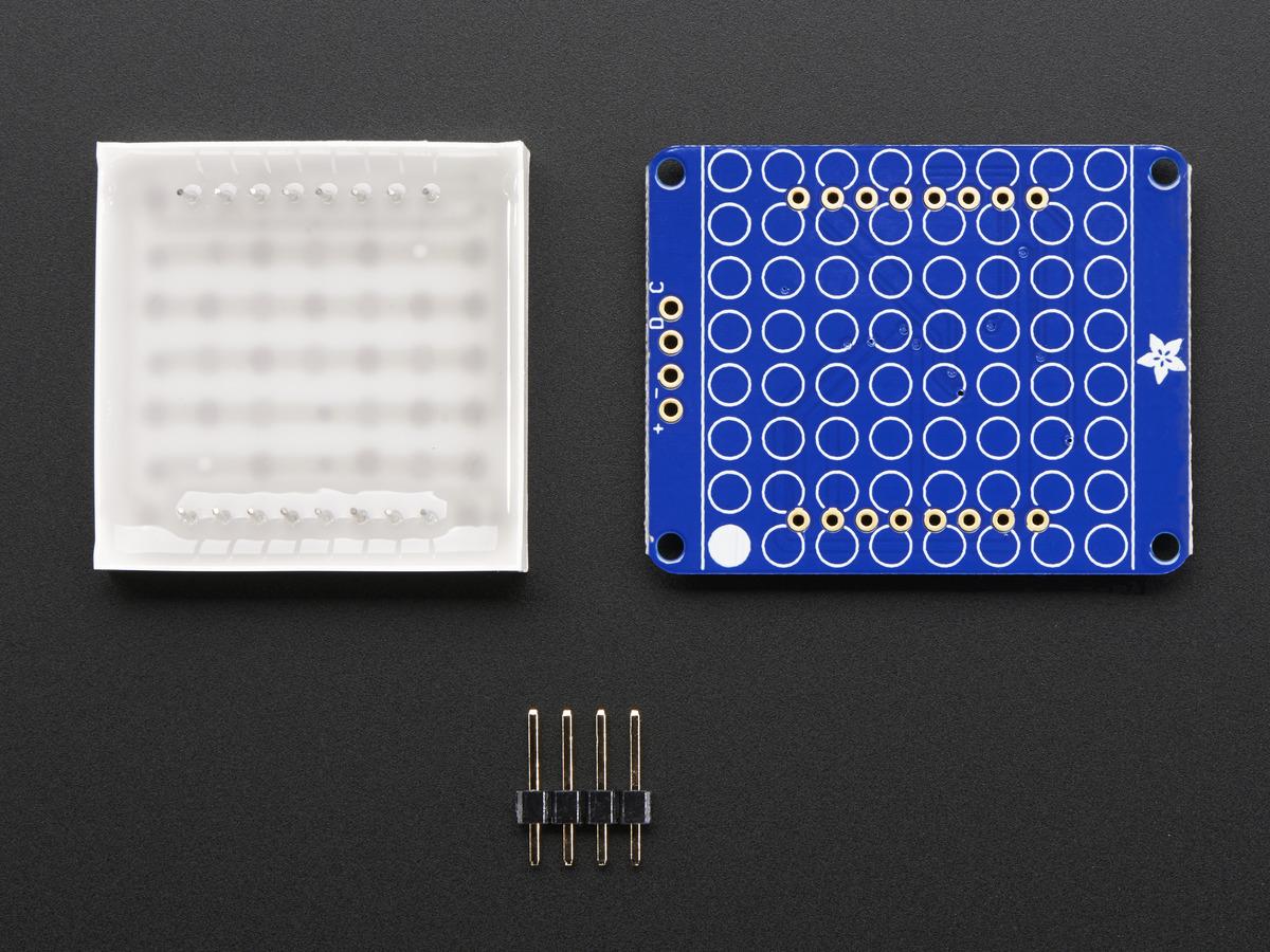 Small 1 2 8x8 Ultra Bright Square Blue Led Matrix