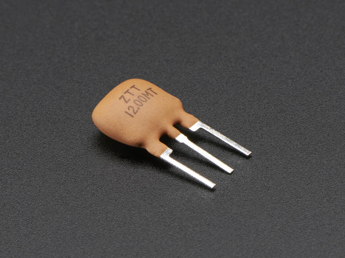 12 Mhz Ceramic Resonator Oscillator Id 1874 085 Adafruit Transistor Oscillators