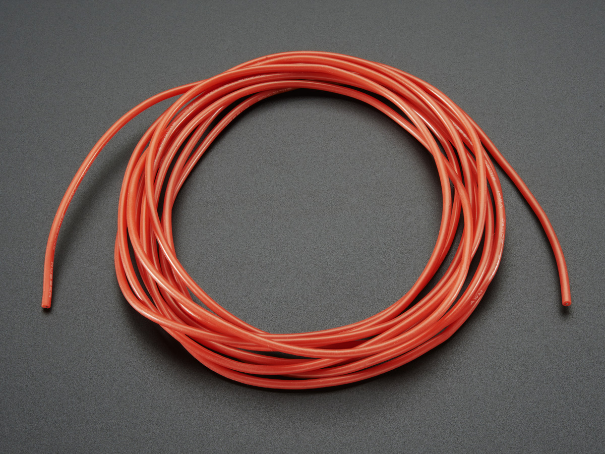 Silicone Cover Stranded-Core Wire - 2m 26AWG Red ID: 1877 - $0.95 ...