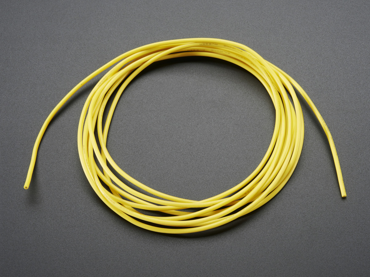 Silicone Cover Stranded-Core Wire - 2m 26AWG Yellow ...