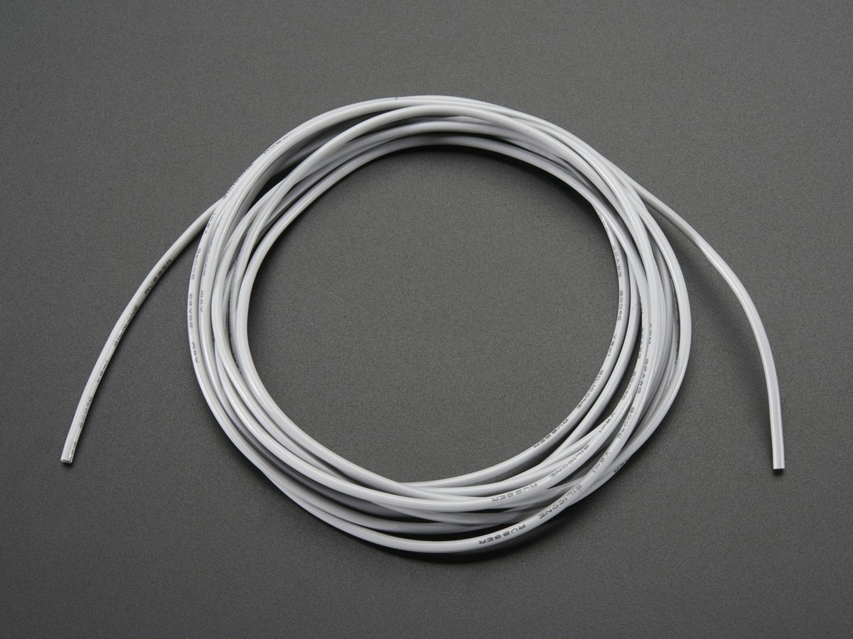 Silicone Cover Stranded-Core Wire - 2m 26AWG Gray ID: 1884 - $0.95 ...