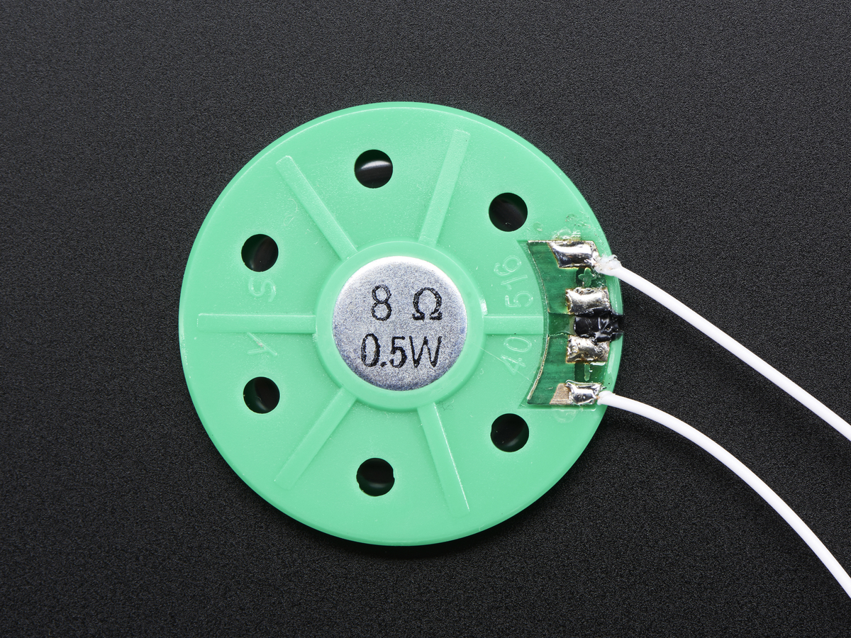 Thin Plastic Speaker w/Wires - 8 ohm 0.25W ID: 1891 - $1.75 ...