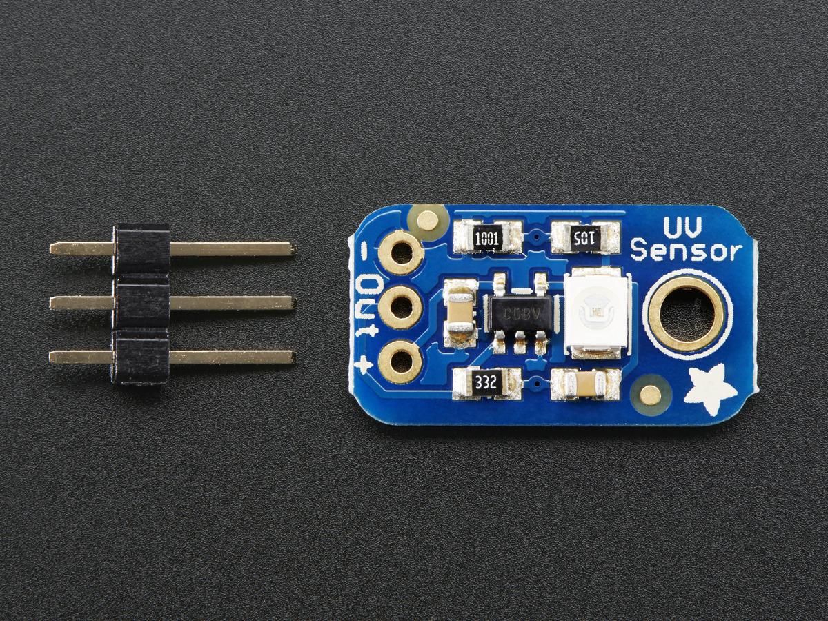 Analog UV Light Sensor Breakout - GUVA-S12SD ID: 1918 - $6.50 ...