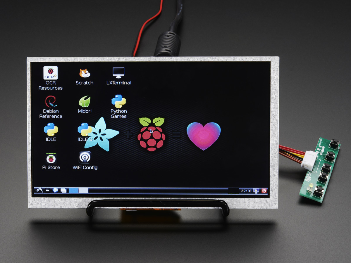 Hdmi 4 Pi 7 Display No Touch W Mini Driver 800x480