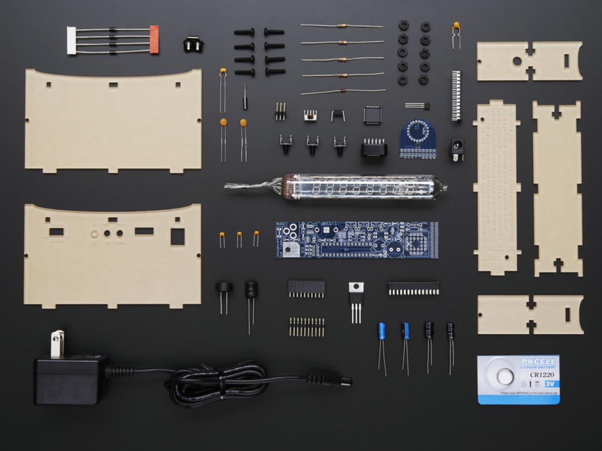 Ice Tube Clock Kit V11 Id 194 8500 Adafruit Industries Electronic Circuit Board Diy Time