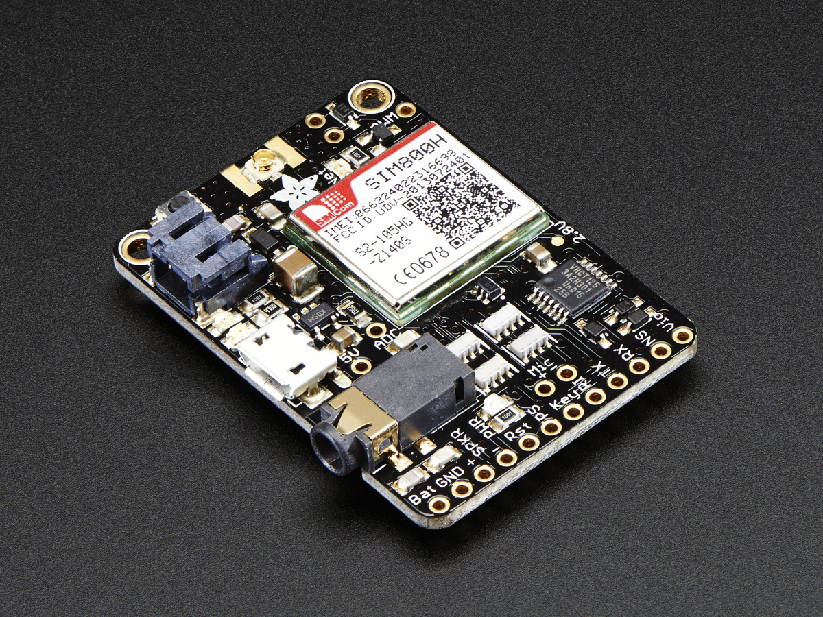 Adafruit Fona Mini Cellular Gsm Breakout Ufl Version Id 1946 Cad Battery Charger With Little Parts Electronic Projects Circuits