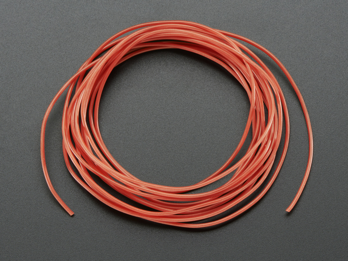 Silicone Cover Stranded-Core Wire - 2m 30AWG Red ID: 2001 - $0.75 ...