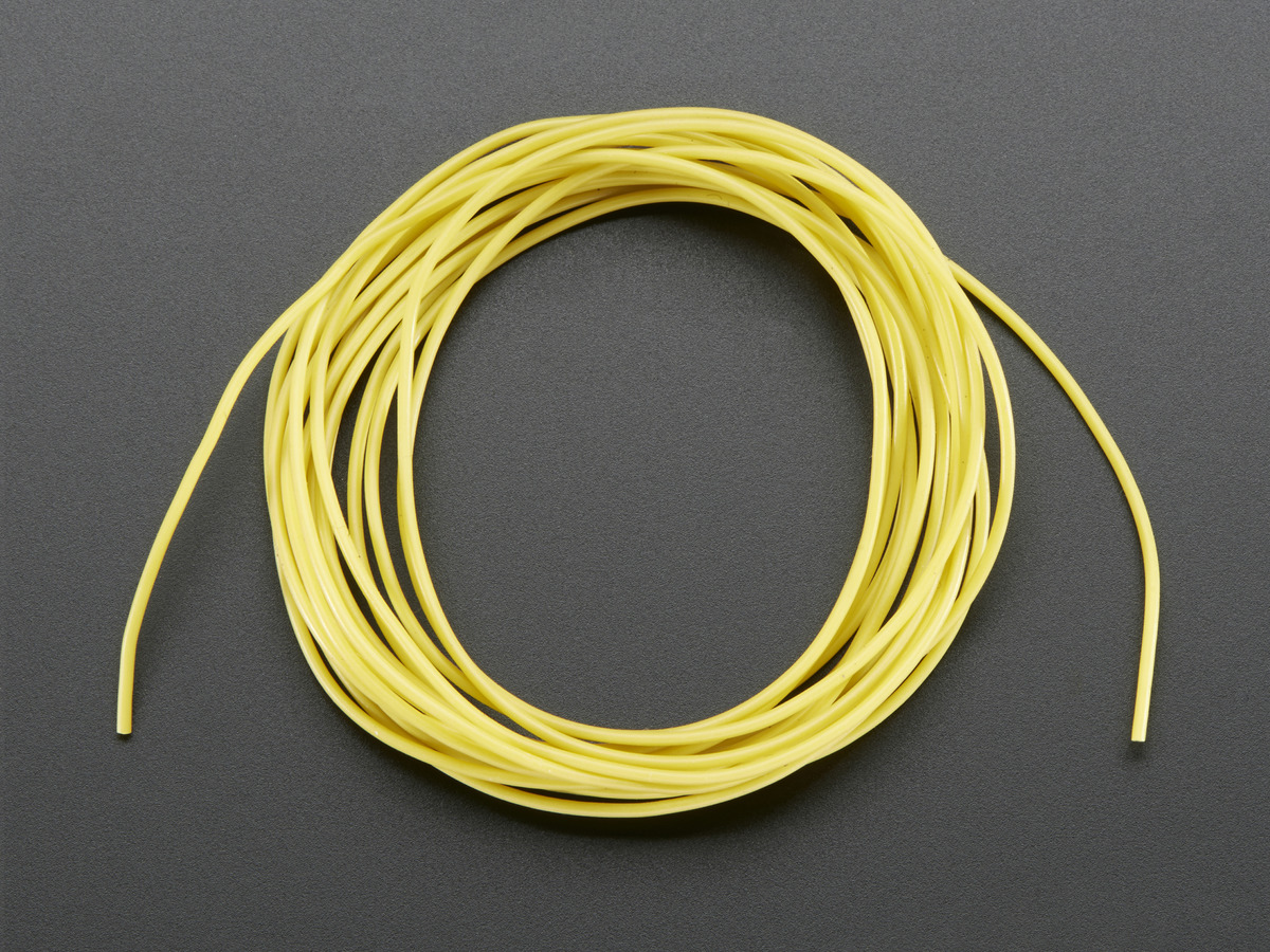 Silicone Cover Stranded-Core Wire - 2m 30AWG Yellow ID: 2004 ...