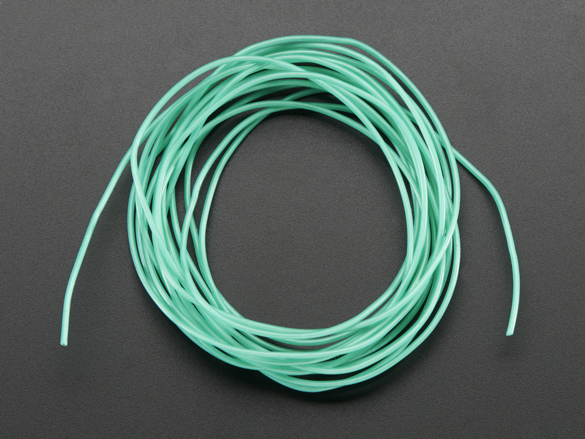 Silicone Cover Stranded-Core Wire - 2m 30AWG Green ID: 2005 - $0.75 ...