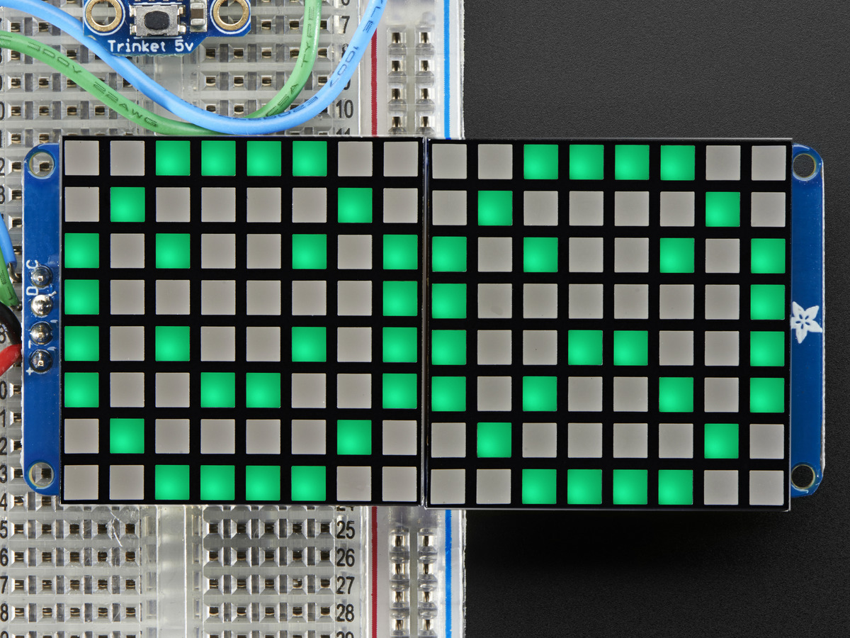 16x8 12 LED Matrix Backpack