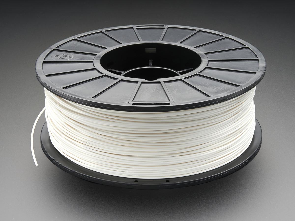 3d Printer Filament >> Abs Filament For 3d Printers 1 75mm Diameter White 1kg Id