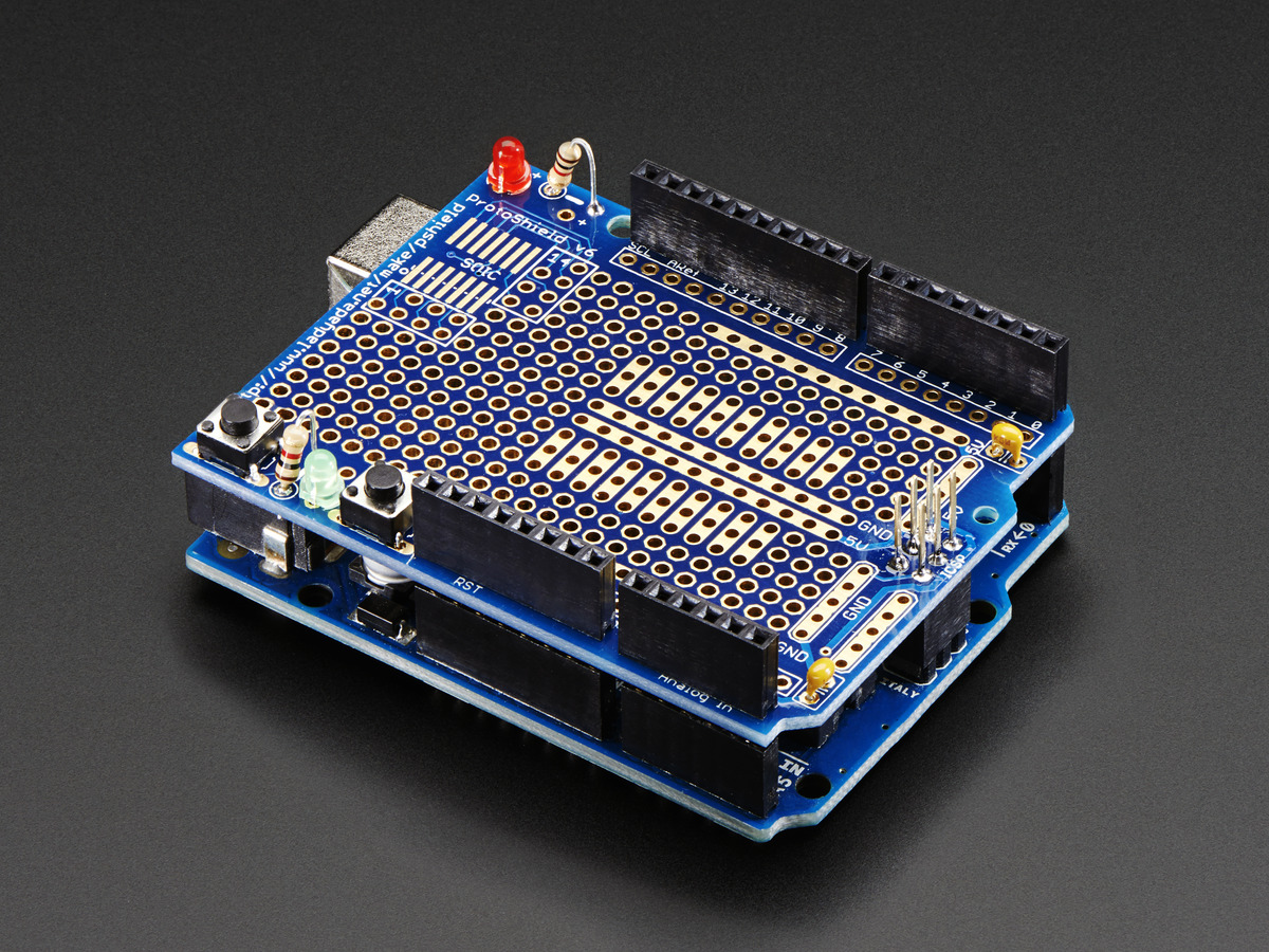 Adafruit proto shield for arduino kit stackable version