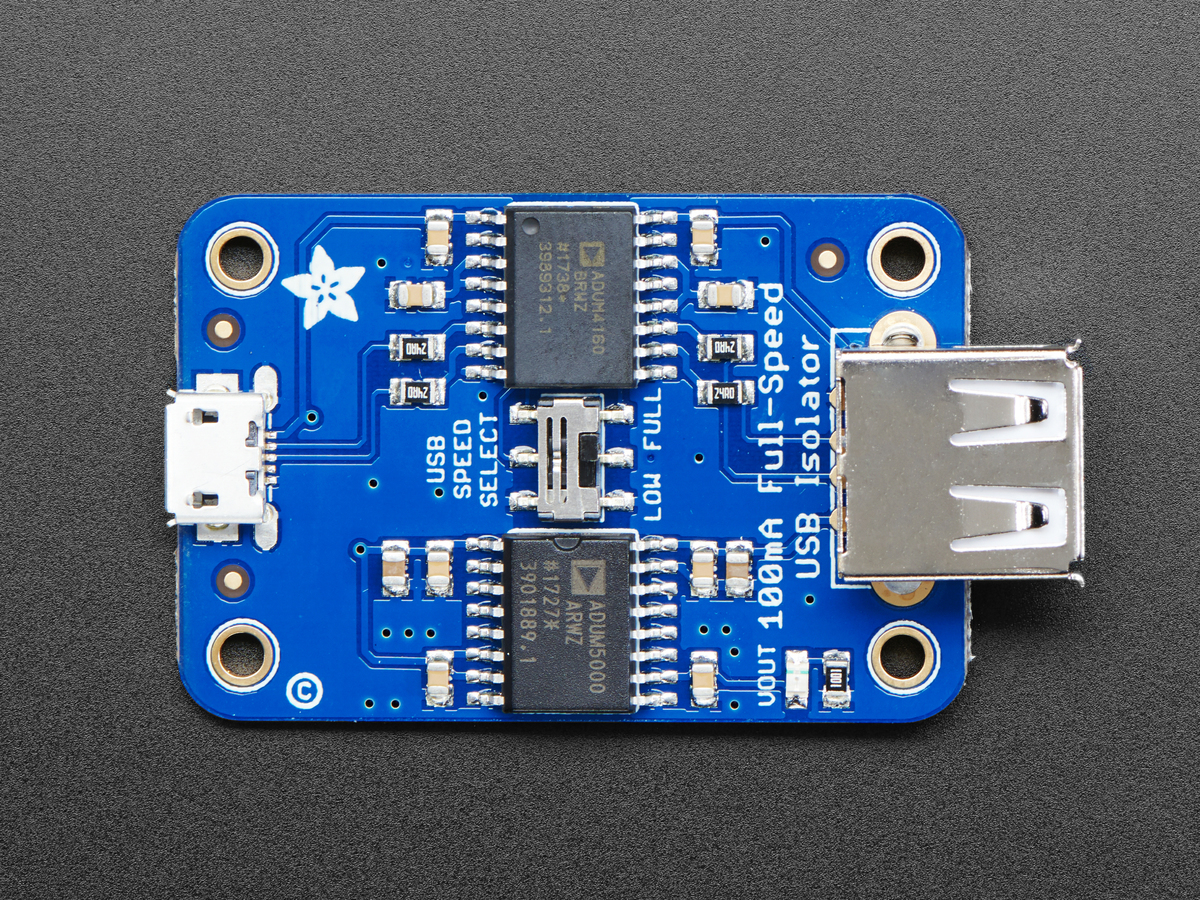 Adafruit Usb Isolator 100ma Isolated Low Full Speed Id 2107 Connector Schematic
