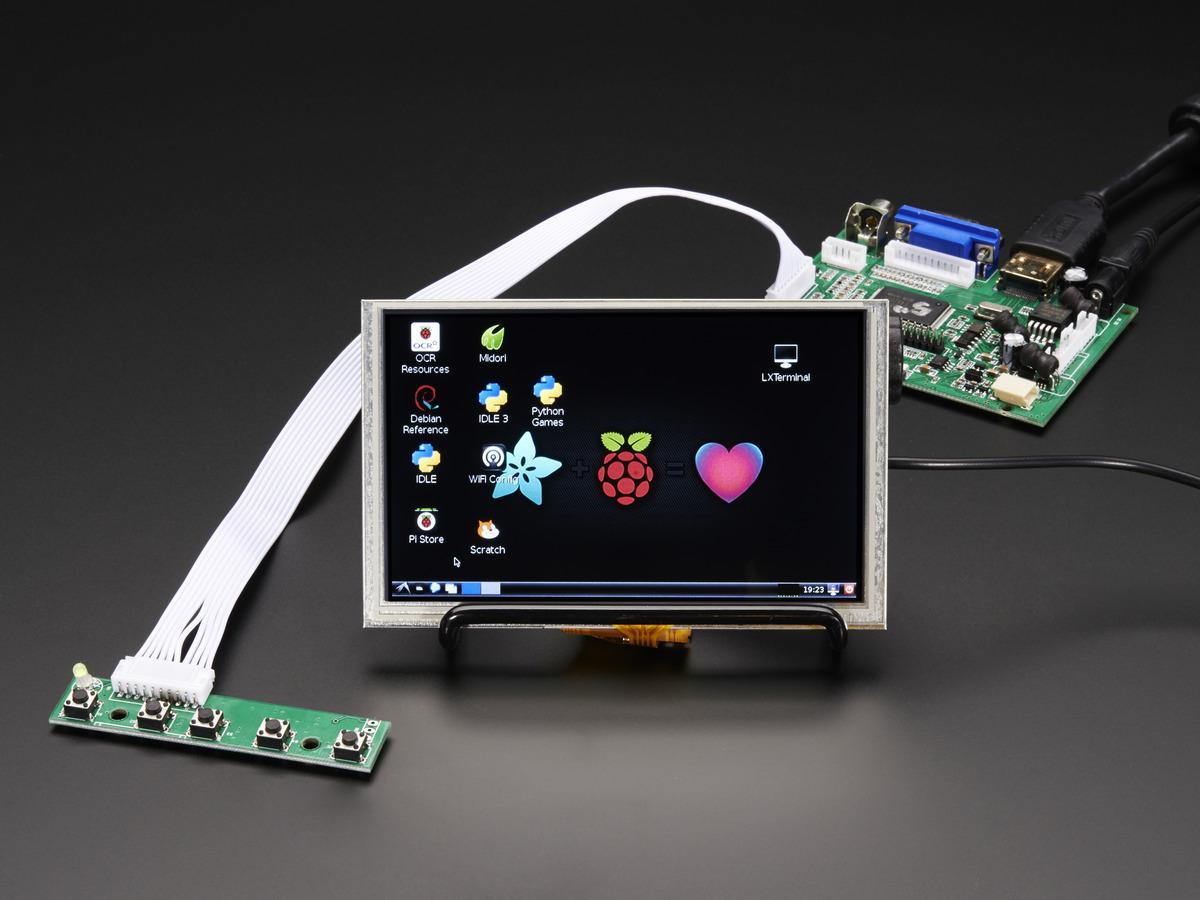 50 40 Pin Tft Display 800x480 With Touchscreen Id 1596 3995 Wiringpi Lcd Tutorial Hdmi 4 Pi 5 W Touch Vga Ntsc Pal