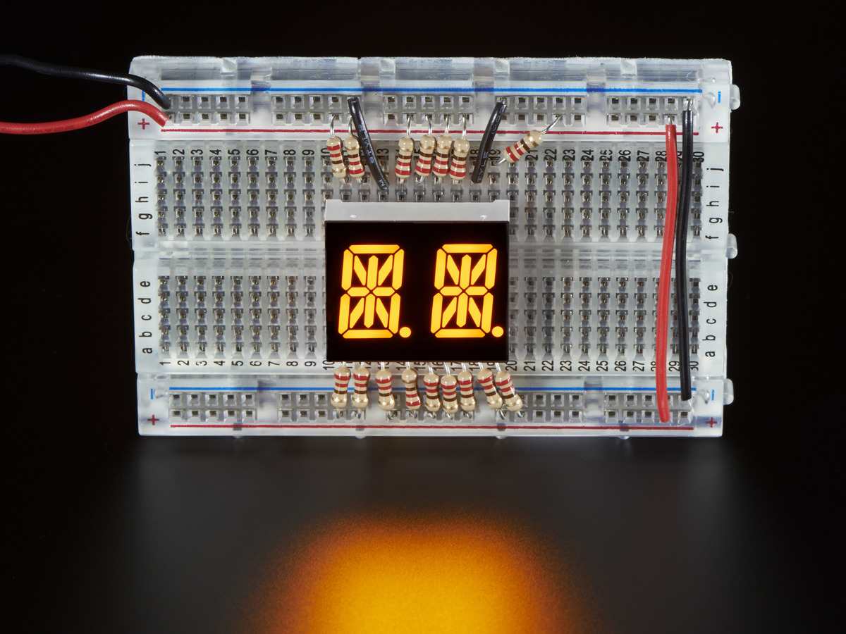 "... Dual Alphanumeric Display -Yellow 0.54"" Digit Height ..."