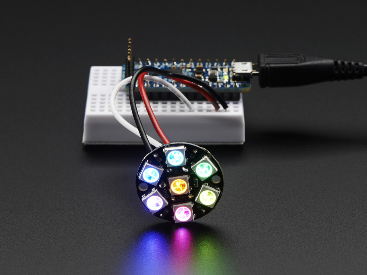 neopixel jewel 7 x 5050 rgb led with integrated drivers id 2226 rh adafruit com Residential Electrical Wiring Projects Basic Wiring Light Fixture