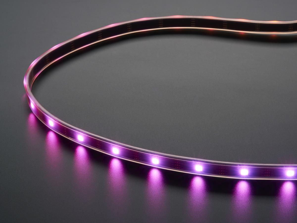 Adafruit DotStar Digital LED Strip - Black 30 LED - Per Meter ...