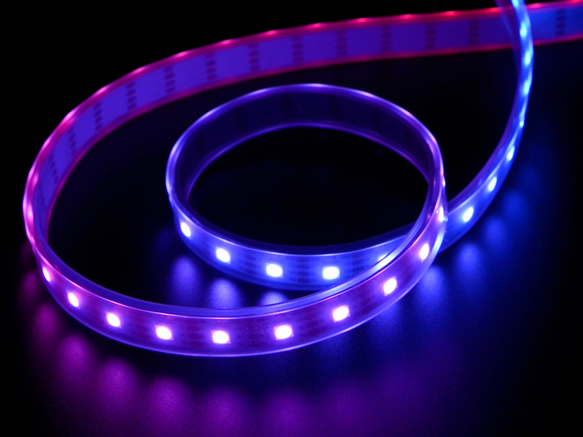Adafruit Dotstar Digital Led Strip White 60 Per Meter 10 Dancing Leds