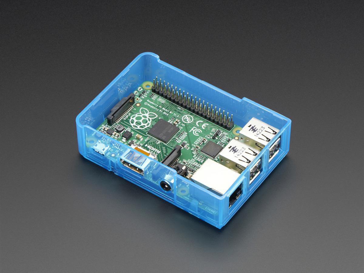 Pi Model B+ / Pi 2 / Pi 3 Case Base - Blue ...
