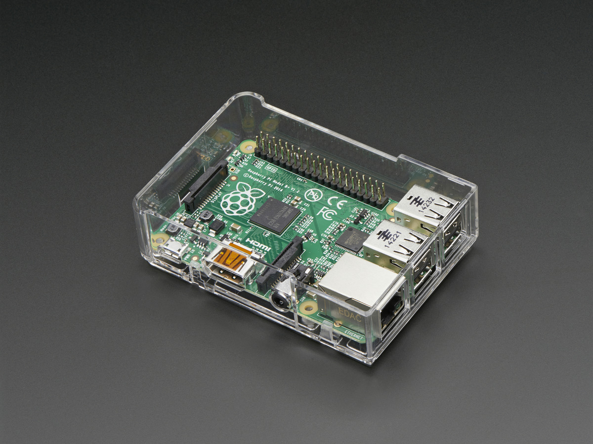 Pi Model B+ / Pi 2 / Pi 3 Case Base - Clear ...