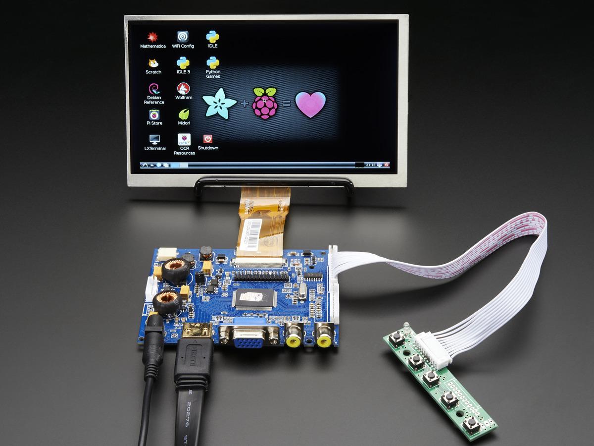 HDMI 4 Pi: 7 Display & Audio 1024x600 - HDMI/VGA/NTSC/PAL ID: 2301