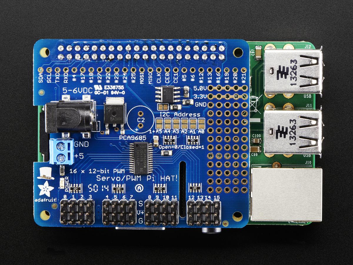 2327 14 adafruit 16 channel pwm servo hat for raspberry pi mini kit id  at gsmportal.co