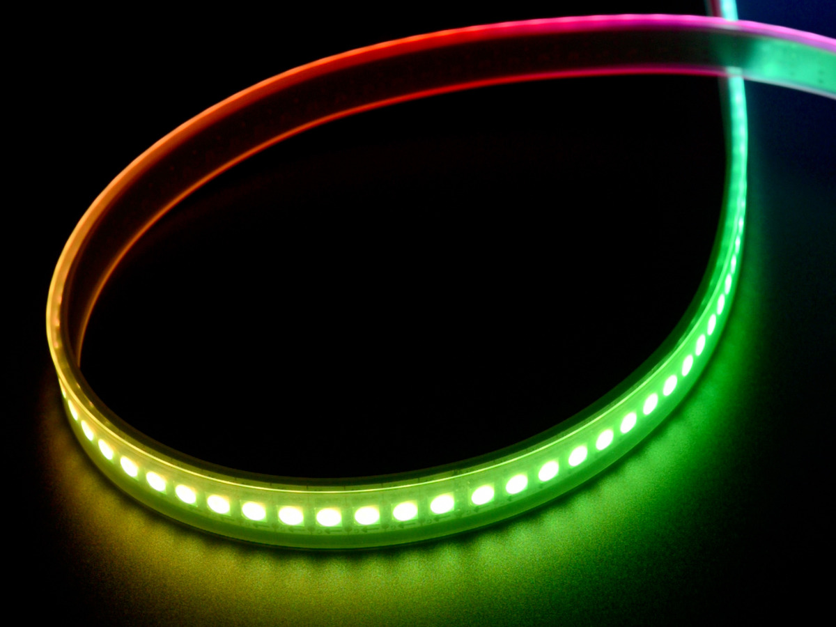 adafruit dotstar digital led strip white 144 led m 0 5 meter white id 2329. Black Bedroom Furniture Sets. Home Design Ideas