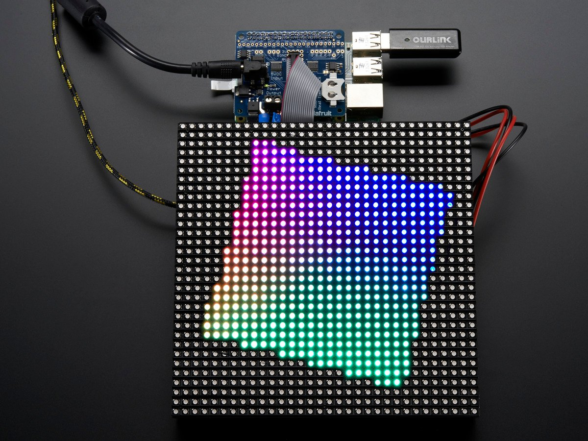 Adafruit RGB Matrix HAT + RTC for Raspberry Pi - Mini Kit ID: 2345