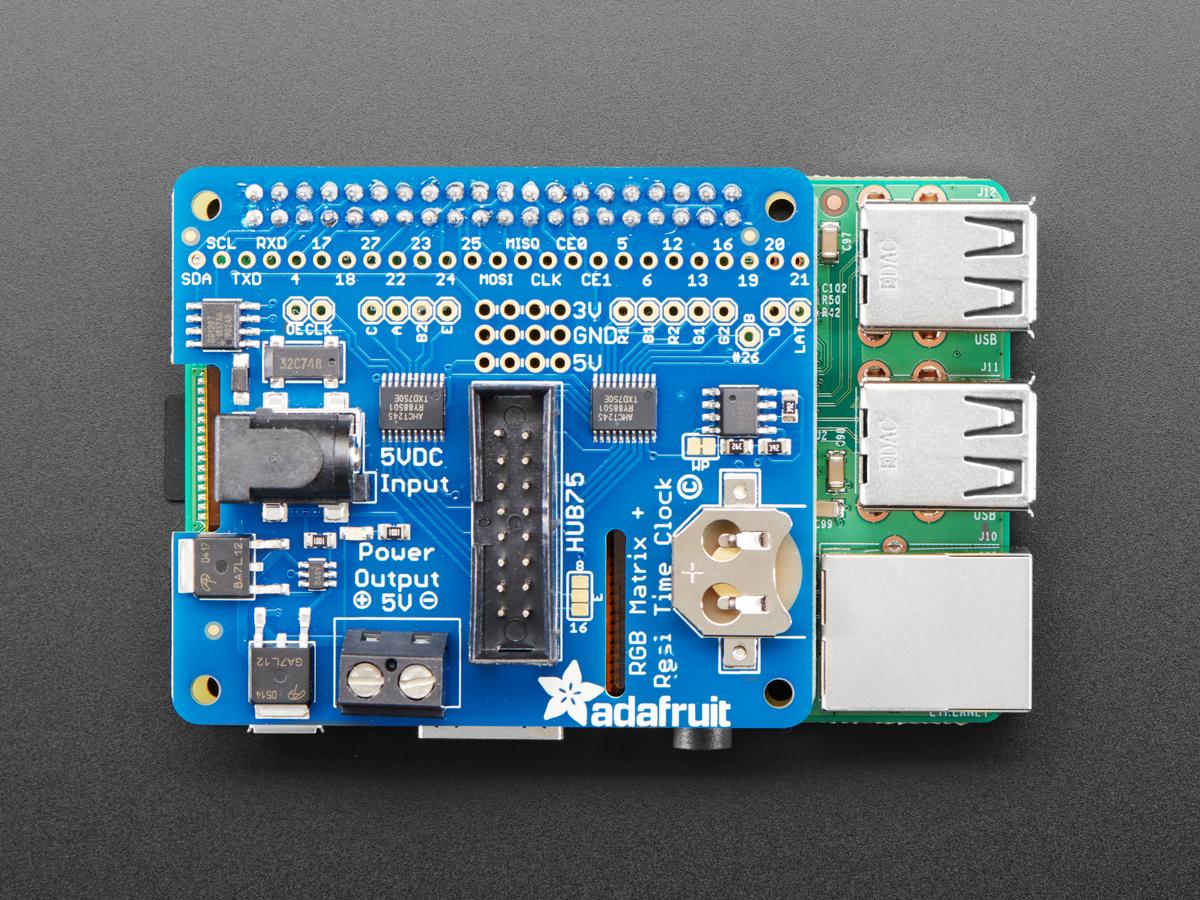 Adafruit RGB Matrix HAT + RTC for Raspberry Pi   Mini Kit