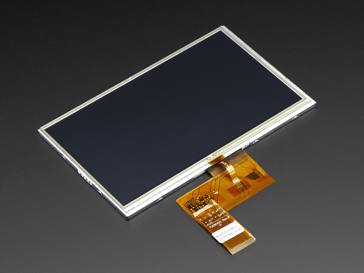 "7.0"" 40-pin TFT Display - 800x480 with Touchscreen ..."