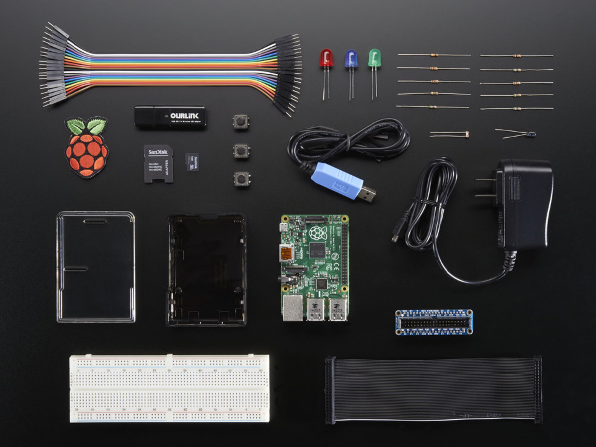 Packs Adafruit Industries Unique Fun Diy Electronics And Kits Explore Nes Circuit Bend More Audio Raspberry Pi 2 Model B Starter Pack Includes A