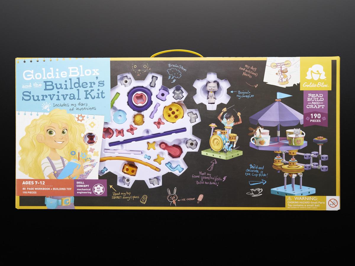 GoldieBlox Builder/'s Survival Kit Construction Toy Mechanical Engineering Goldie