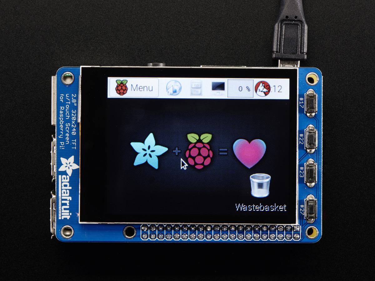 Adafruit PiTFT Plus 320x240 2 8 TFT + Capacitive Touchscreen
