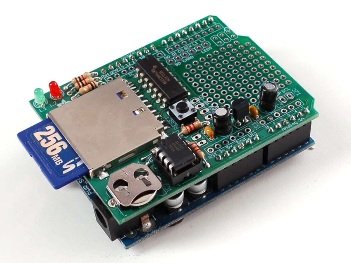 Adafruit Data logging shield for Arduino [v1.0] ID: 243 $0.00  #186148