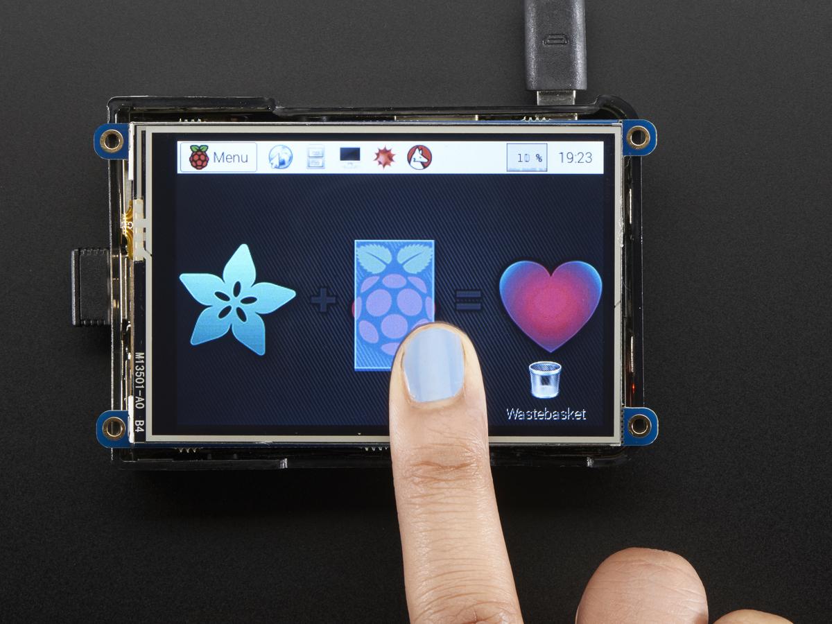 """PiTFT Plus 480x320 3.5"""" TFT+Touchscreen for Raspberry ..."""
